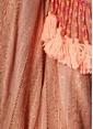 Sundress Kayık Yaka Püsküllü Mini Elbise Pudra
